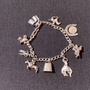 OOAK Vintage .925 🐎 charm bracelet